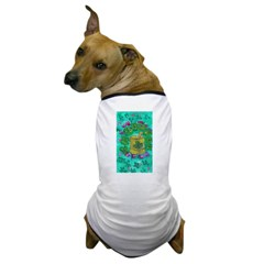 Four Leaf Clover and Flower Dog T-Shirt