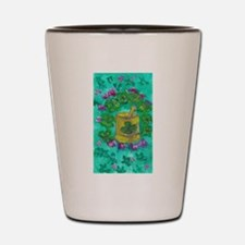 Four Leaf Clover and Flower Shot Glass