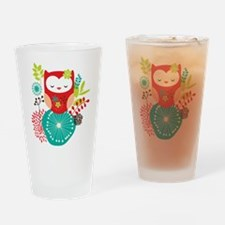 Funny Cute owls Drinking Glass
