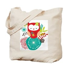 Cute Red bird Tote Bag