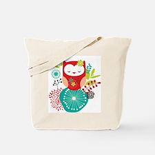 Funny White owl Tote Bag