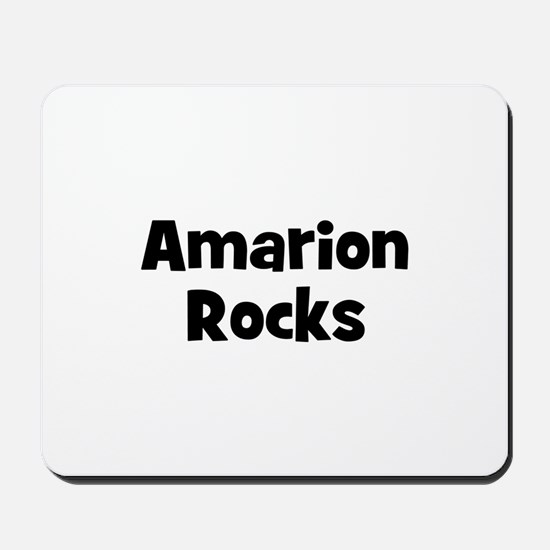 Amarion Rocks Mousepad