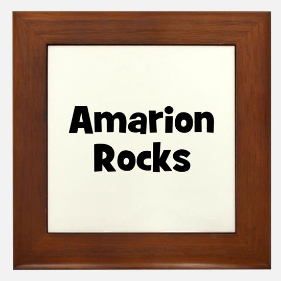 Amarion Rocks Framed Tile
