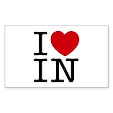 I Heart Indiana Decal