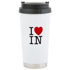 I Heart Indiana Travel Mug