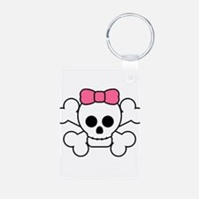 cute_girl_skull flat.png Keychains