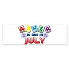 Asher is Due in July Bumper Sticker