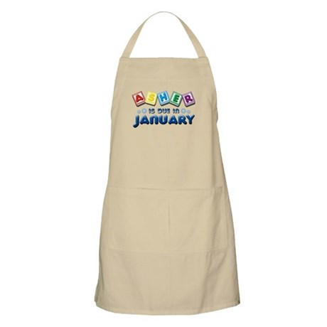 Asher is Due in January Apron