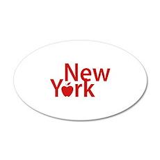 New York 22x14 Oval Wall Peel