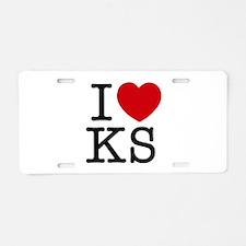 I Heart Kansas Aluminum License Plate