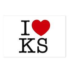 I Heart Kansas Postcards (Package of 8)