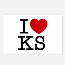 I Heart Kansas Postcards (Package of 8)