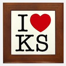 I Heart Kansas Framed Tile