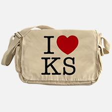 I Heart Kansas Messenger Bag
