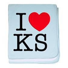 I Heart Kansas baby blanket