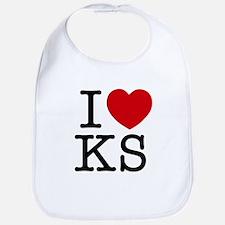 I Heart Kansas Bib