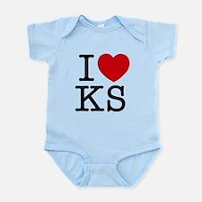 I Heart Kansas Infant Bodysuit