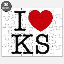 I Heart Kansas Puzzle