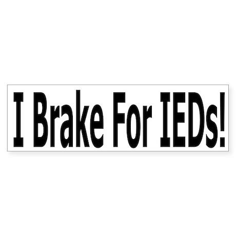 IED Bumper Sticker