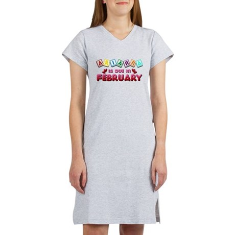 Arianna is Due in February Women's Nightshirt