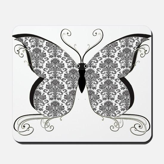 Damask Butterfly Mousepad
