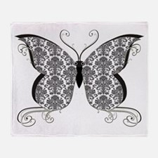 Damask Butterfly Throw Blanket