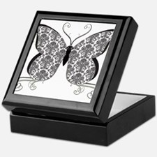 Damask Butterfly Keepsake Box