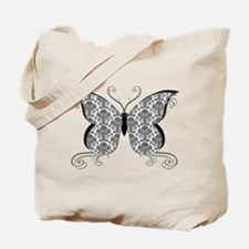 Damask Butterfly Tote Bag