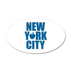 New York City 22x14 Oval Wall Peel