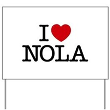 I Heart New Orleans Yard Sign