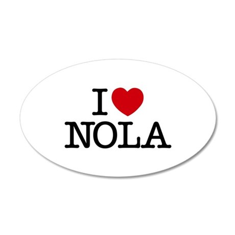I Heart New Orleans 22x14 Oval Wall Peel
