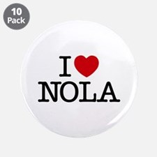 """I Heart New Orleans 3.5"""" Button (10 pack)"""