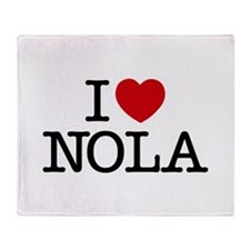 I Heart New Orleans Throw Blanket