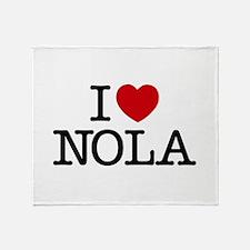 I Heart New Orleans Throw Blanket