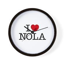 I Heart New Orleans Wall Clock