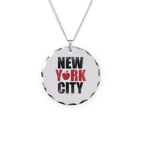 New York City Necklace Circle Charm