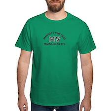 Martha's Vineyard MA - Varsity Design. T-Shirt