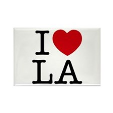 I Heart Las Angeles Rectangle Magnet