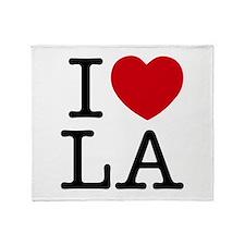 I Heart Las Angeles Throw Blanket