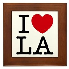 I Heart Las Angeles Framed Tile