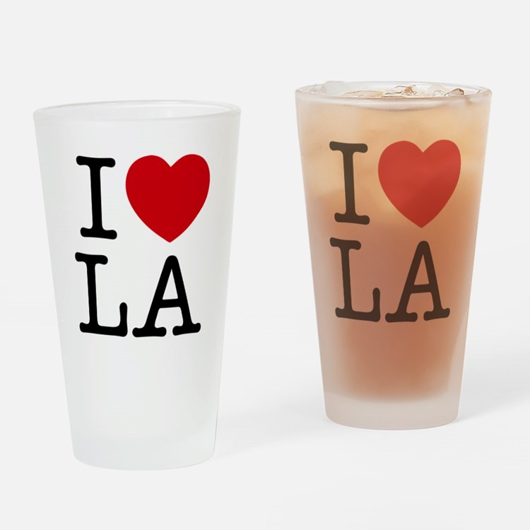 I Heart Las Angeles Drinking Glass
