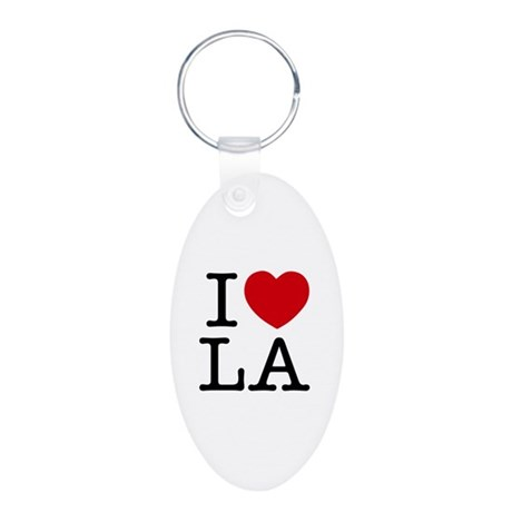I Heart Las Angeles Aluminum Oval Keychain