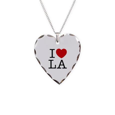 I Heart Las Angeles Necklace Heart Charm