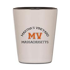 Martha's Vineyard MA - Map Design. Shot Glass