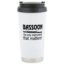 Bassoon Instrument Thermos Mug