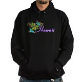 Hawaii with flowers Dark Hoodies
