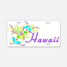 Cute Hawaii vacation Aluminum License Plate