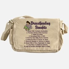 Breastfeeding Benefits Messenger Bag