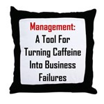 Management: Tool For Failure Throw Pillow