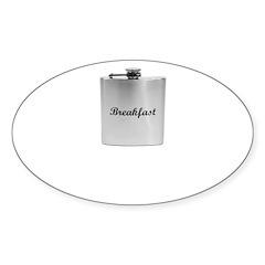 Breakfast Flask Sticker (Oval 10 pk)